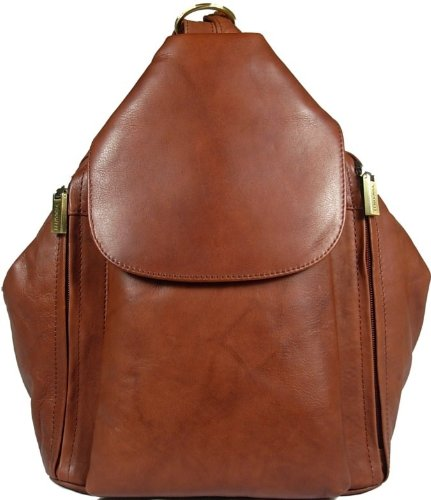 New girls/ladies gorgeous Visconti brown soft leather backpack bag style 18357