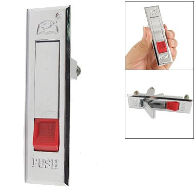 "Red Push Button Pop Up 3.5"" Long Security Plane Lock For Cabinet front-938465"