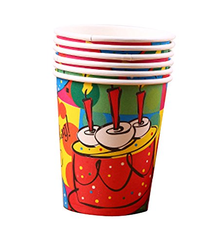 10 Pieces Gâteau Motif Party Gobelets Drink Cups