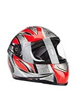 Akira Casco de Moto Mito Integral (Gris / Rojo)