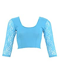 Thirumala Silks Womens Lycra Blouse (Blue, 36)
