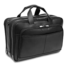 Hartmann Capital Leather Triple Compartment Expandable Briefcase