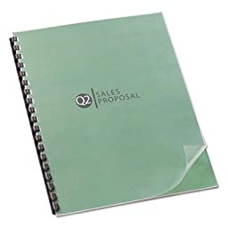 Binding Cover,Lined,Square Corners,8-1/2 quot;x11 quot;,25/PK,Clear