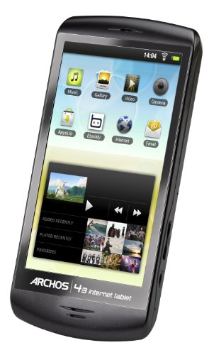 Archos 501574 4.3 Internet Tablet/Media Player -  with Android + WiFi Connectivity