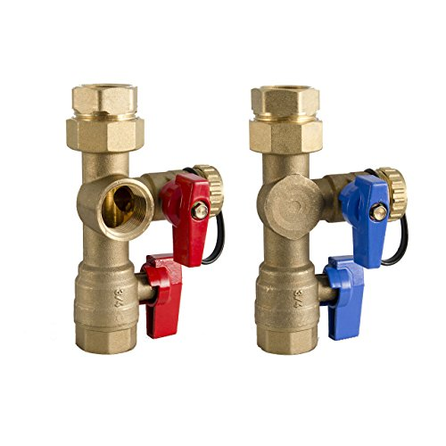 WaiWela WTIV-TRD-SB Tankless Installation Valve, 3/4-Inch (Hot Water Heater Flush Kit compare prices)