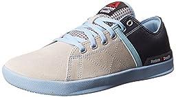 Reebok Women\'s RCF Lite Lo TR Poly Training Shoe, Steel/Graphite/Denim Glow, 5 M US
