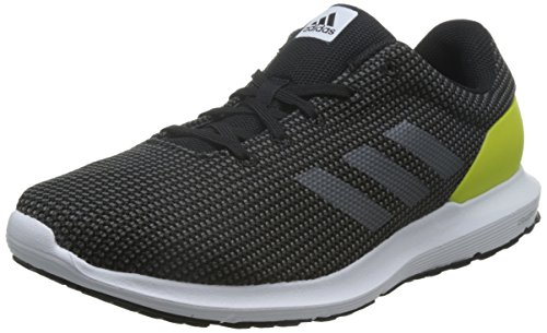 Adidas Cosmic, Scarpe da Corsa Uomo, Multicolore (Black/Yellow/Grey), 42 2/3 EU