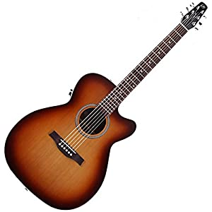 Seagull 040414 Entourage Rustic Concert Hall CW QIT Acoustic Electric Guitar w/ Gig Bag and Stand by Seagull