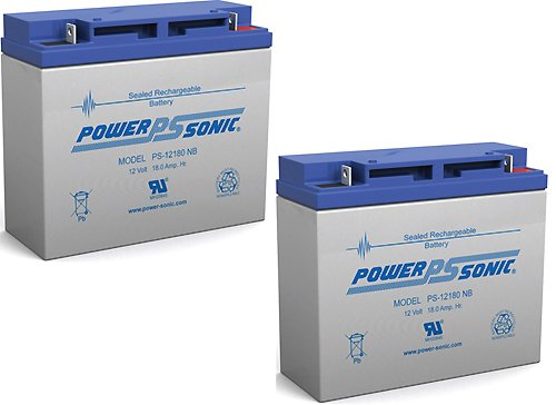 12V 18Ah Og165L Power Boss Briggs And Stratton Honda Generator Battery - 2 Pack