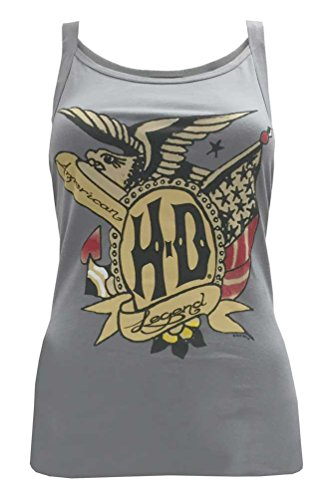 Harley-Davidson Women's Tank Top, Vintage American Sketch Graphic, Gray (M)
