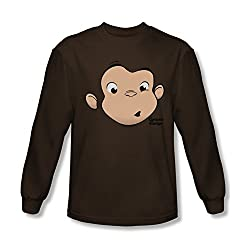 Curious George Face Long Sleeve T-Shirt