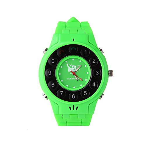Tbs®3202 New Generation Kids Wrist Watch Phone With Real Gps Tracker /Children Safe Security/ Sos Surveillance/Audio Remote Monitor For Kids (Green) front-65743