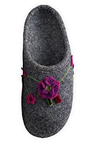 Giesswein Flowers Boiled Wool Slipper