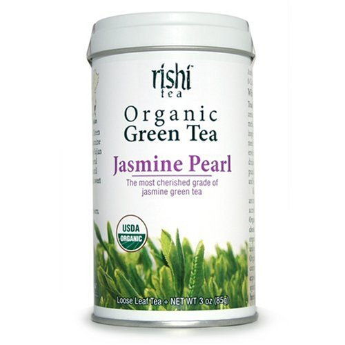 Rishi Tea Organic Jasmine Pearl Loose Leaf Tea, 2.99-Ounce Tin (Pack of 2)