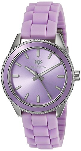 Wellington Karamea Women's Quartz Watch with Purple Dial Analogue Display and Purple Silicone Strap WN508-190D