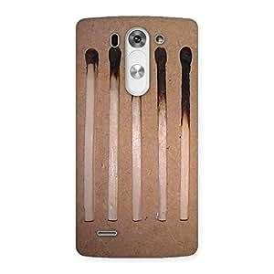 Delighted Burned Matchsticks Multicolor Back Case Cover for LG G3 Mini