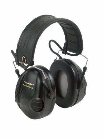 3M Peltor Tactical Sport Mt16H210F-479-Sv Black Listen-Only Headset - Power Supply Battery - 20 Db Nrr - Xh001678479 [Price Is Per Case]