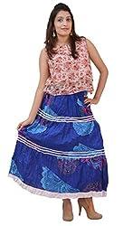 Carrol Long Skirt-Blue