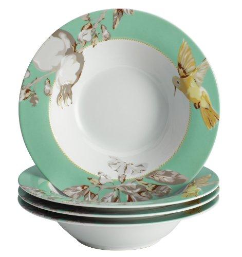 BonJour 4-Piece Dinnerware Fruitful Nectar Porcelain Soup/Pasta Bowl Set (Soup Bowls Set compare prices)