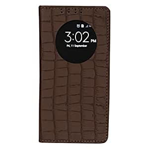 Dsas Artificial Leather Flip cover with screen Display Cut Outs designed for LG Leon