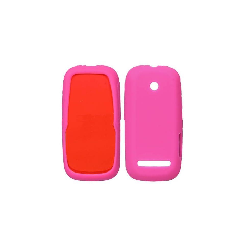 Soft Skin Case Fits Motorola VE440 Solid Hot Pink Skin