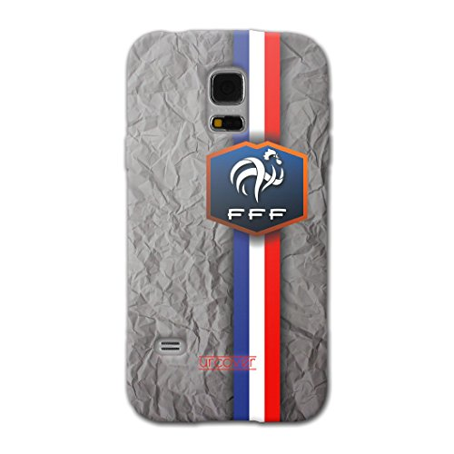 [EM SPEZIAL] Samsung Galaxy S5 Mini Fussball Handyhülle mit Staubschutzkappen von original Urcover® in der UEFA EURO 2016 Edition Galaxy S5 Mini Schutzhülle Case Cover Etui Europameisterschaft 2016 Fahne Fanartikel Team Frankreich