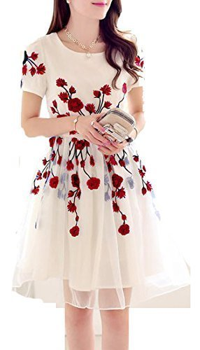 Krishna White color Red Rose Kurti.