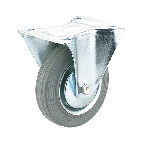 Steelex D2583 4-Inch 150-Pound Fixed Rubber Plate Caster GrayB0000DD1D5