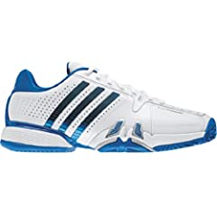 Buy adidas Mens adipower barricade 7.0 Tennis Shoe,Running White Prime Blue Metallic Silver,11.5 D US by adidas