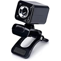 Vicbovo USB 12 Megapixel HD Camera Web Cam 360 MIC Clip-on For Computer Laptop PC Black