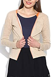 Colors Couture Sand Beige Skynet Jacket for women's