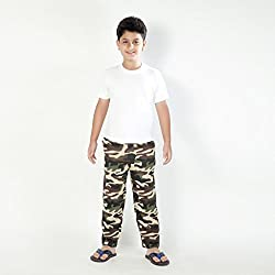 Clifton Boys Cotton Straight Trousers - Multi- Coloured, (Large)