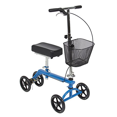 Knee Walker Scooter Leg Crutch Steerable Turning Folding With Basket (Fisher Cd Player 6 Disc compare prices)