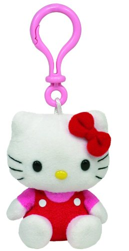 Ty-Hello-Kitty-Key-Clip-in-red-overalls