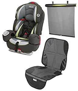 graco argos 80 elite 3 in 1 car seat with better fit window shades car seat mat. Black Bedroom Furniture Sets. Home Design Ideas