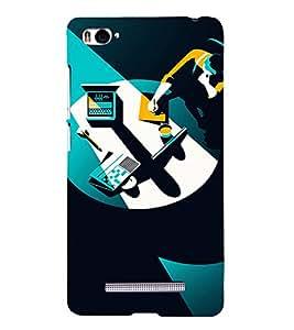 PrintVisa Corporate Work Design 3D Hard Polycarbonate Designer Back Case Cover for Xiaomi Redmi Mi4i