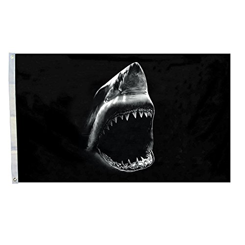 Melon Seeds Shark Flag Indoor Outdoor 3*5 Foot (Shark Flag compare prices)