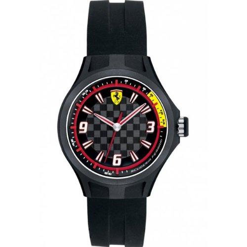 Scuderia Ferrari -- 0820001 - Reloj para hombres, correa de goma color negro