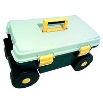 Rolling Garden Tool Cart w Storage Seat & Handle