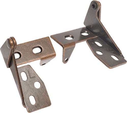 The Hillman Group 59279 Bronze Top & Bottom Pivot Hinge with Tab , 2-Pack