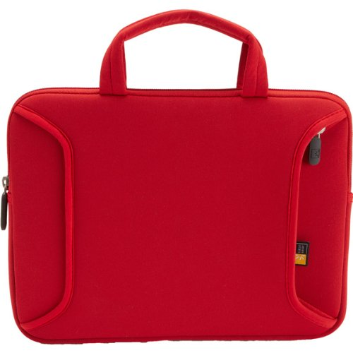 Case Logic Portable Lneo 10 Carrying Case For 10.2 Inch Netbook Red Weather Resistant Neoprene