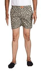 Kakojee Men's Cotton Boxer Shorts (K-06, Grey, Large)