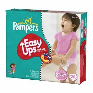 Pampers Easy Ups Pampers Easy Ups Girls Diapers, Jumbo Pack, 2T-3T (Size 4) 26 ct (Quantity of 3)