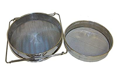 New Honey Strainer Double Sieve Stainless Steel Beekeeping Equipment HLPB Filter