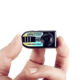 1280 X 720P HD Mini DV Q5 Digital Video Camera Recorder Camcorder Hidden Cam Car DVR Motion Detection with 8GB Micro SD Card