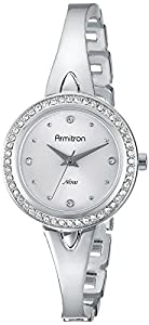 Armitron Women's 75/5238SVSV Swarovski Crystal Accented Silver-Tone Bangle Watch