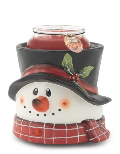 Candle Warmers Etc. Ceramic Candle Warmer Crock- Snowman