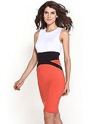 Dress Kart Celebrity Style Waist Accented Pencil Midi Dress