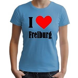 I Love Freiburg Damen T-Shirt