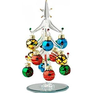 Mini Crystal Christmas Tree With Festive Ball Ornaments